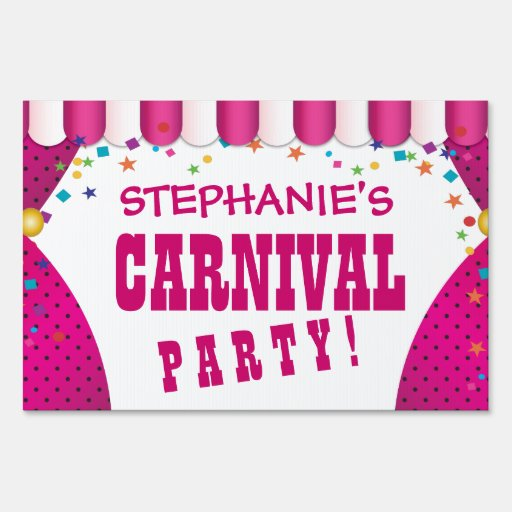 Muestra personalizada cumpleaños del carnaval de l