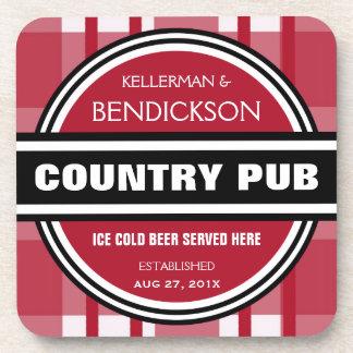 Muestra personalizada de la cerveza del Pub del pa Posavasos De Bebida