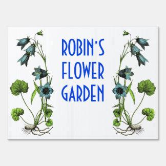 Muestra personalizada del jardín de flores carteles