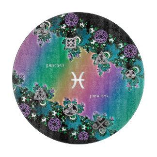 Muestra Piscis del zodiaco del fractal del arco Tablas Para Cortar