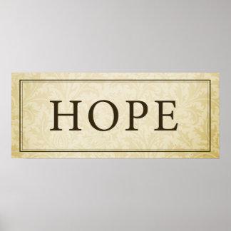 Muestra/placa de la esperanza posters