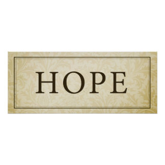 Muestra/placa de la esperanza póster