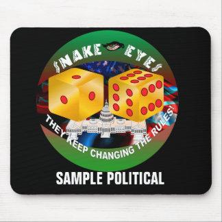 Muestra política tapete de ratones