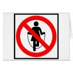 Muestra prohibida comba de la carretera tarjeta de felicitación