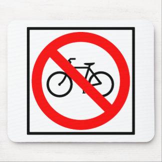 Muestra prohibida de la carretera del tráfico de b alfombrilla de ratón