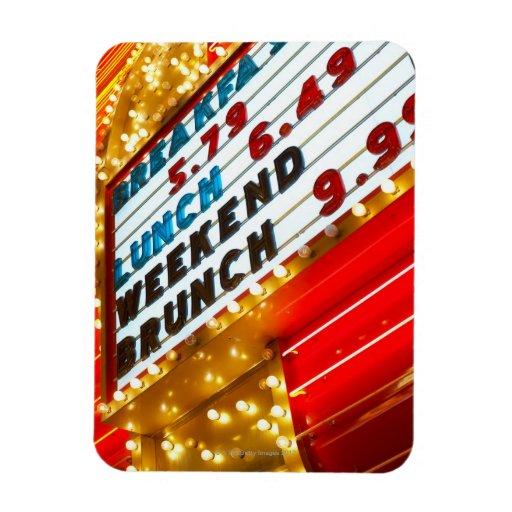 Muestra promocional de neón en el casino, Las Vega Iman Rectangular