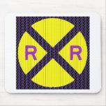 Muestra púrpura de la travesía de ferrocarril del  tapetes de ratones