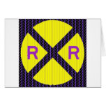 Muestra púrpura de la travesía de ferrocarril del  felicitaciones