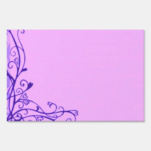 Muestra púrpura personalizada de la yarda de los carteles