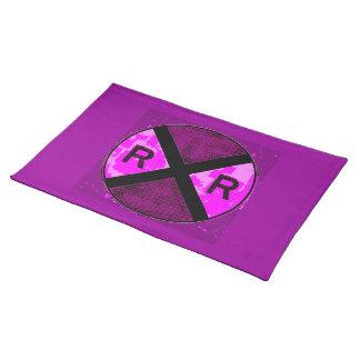 Muestra púrpura Placemat Manteles