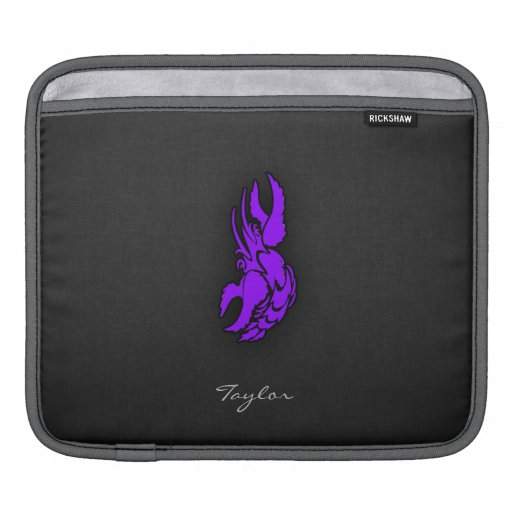 Muestra púrpura violeta del cáncer del zodiaco manga de iPad