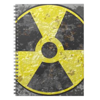 Muestra radiactiva 2 libretas