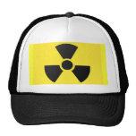 Muestra radiactiva gorros bordados