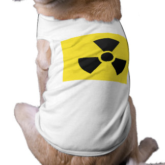 Muestra radiactiva playera sin mangas para perro