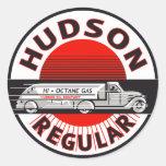 Muestra regular de la gasolina del Hudson del vint Pegatina Redonda