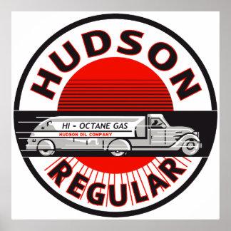 Muestra regular de la gasolina del Hudson del vint Póster