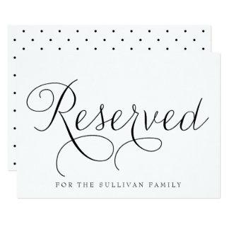 """Muestra reservada del boda de la escritura invitación 5"""" x 7"""""""