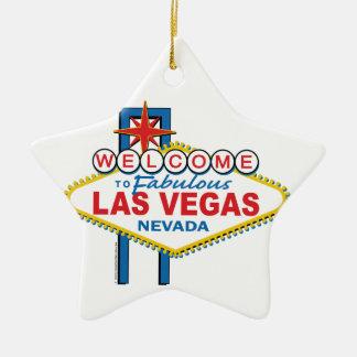 Muestra retra de Las Vegas Adorno De Cerámica En Forma De Estrella