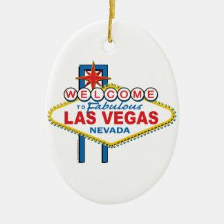 Muestra retra de Las Vegas Adorno Ovalado De Cerámica