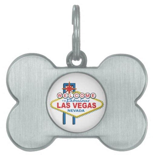 Muestra retra de Las Vegas Placa De Nombre De Mascota