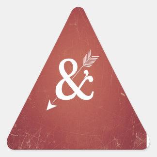 Muestra retra del amor de la flecha del Cupid del Calcomania Trianguladas Personalizadas