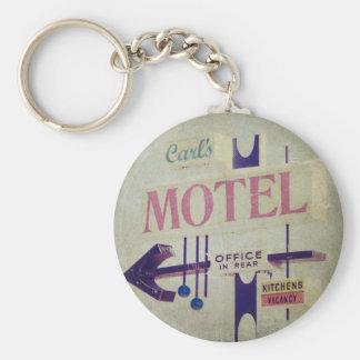Muestra retra del motel de Carl Llavero Redondo Tipo Pin