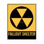 Muestra retra del refugio de polvillo radiactivo d tarjeta postal