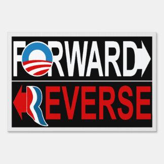 Muestra REVERSA DELANTERA de la yarda de Obama Letreros