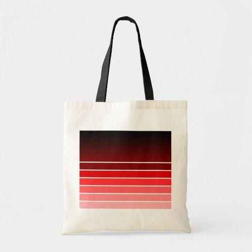muestra roja bolsas de mano