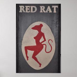 Muestra roja del Pub de la rata Impresiones