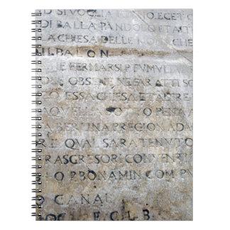 Muestra romana antigua libretas espirales