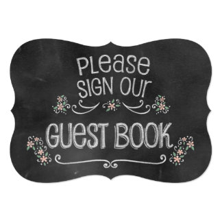 Muestra rústica del libro de visitas del boda de invitación 12,7 x 17,8 cm