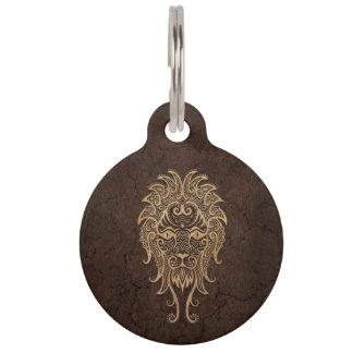 Muestra rústica del zodiaco de Leo en el efecto de Identificador Para Mascotas