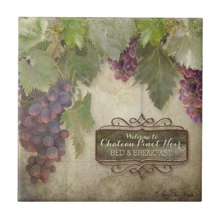 Muestra rústica personalizada del vino de la caída azulejo cuadrado pequeño