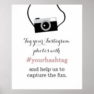 Muestra simple de Hashtag de las fotos de Posters