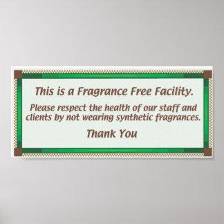 Muestra sin perfume de la instalación póster