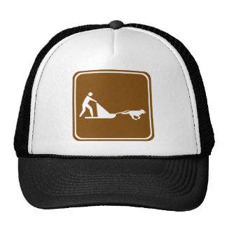 Muestra sledding de la carretera del perro gorro