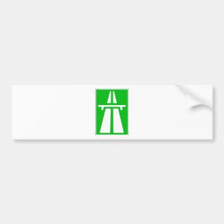 Muestra suiza del Autobahn Pegatina Para Auto