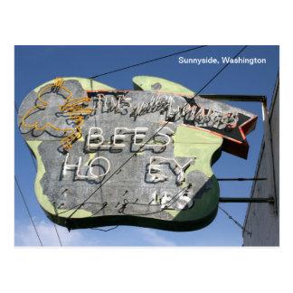 Muestra Sunnyside, Washington de la abeja Tarjeta Postal