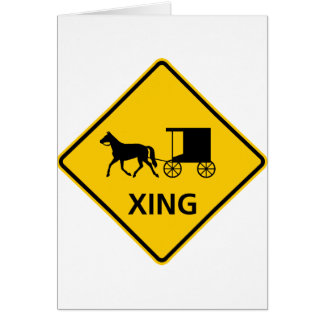 Muestra traída por caballo de la carretera de la tarjeta de felicitación