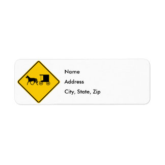 Muestra traída por caballo de la carretera del etiqueta de remite