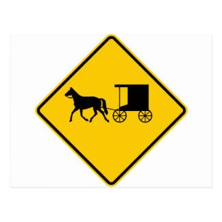 Muestra traída por caballo de la carretera del tarjetas postales