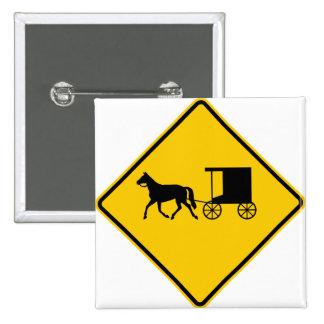 Muestra traída por caballo de la carretera del trá pin cuadrada 5 cm