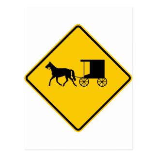 Muestra traída por caballo de la carretera del trá tarjetas postales