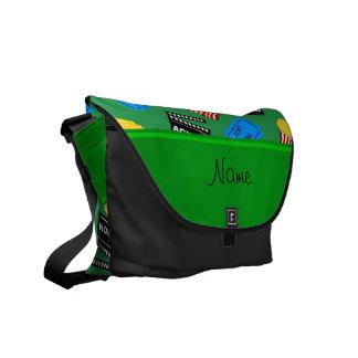 Muestra verde conocida de encargo de la acción del bolsa de mensajeria