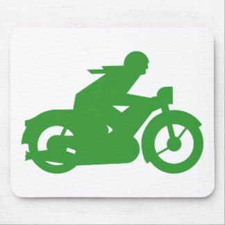 Muestra verde de Motorbiker Tapete De Ratones
