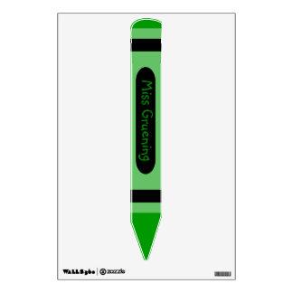Muestra verde personalizada del nombre del creyón