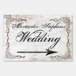 Muestra w/Arrow del boda del estilo del vintage