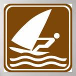 Muestra Windsurfing de la carretera Poster