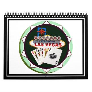 Muestra y dos reyes ficha de póker de Las Vegas Calendario